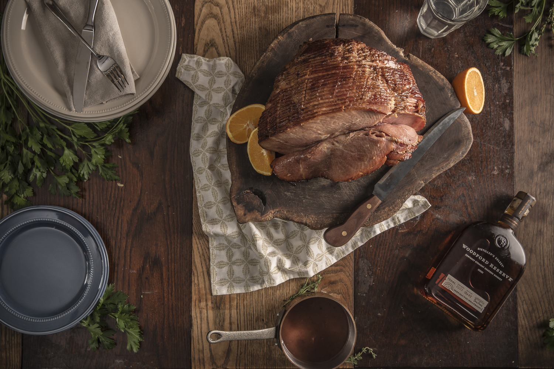 Bourbon Glazed Ham with Cumberland Sauce